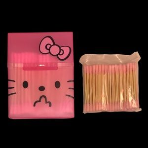 Hello kitty cotton swab holder container.NWT